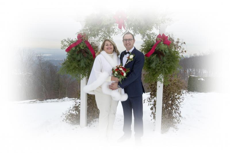 winter wedding photography Western MA