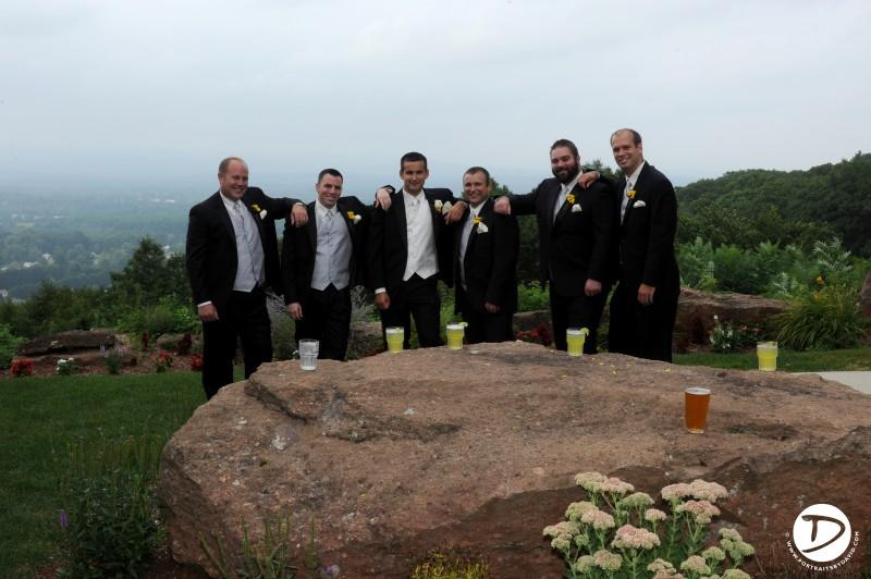 Log cabin Delaney House wedding photo Holyoke Ma