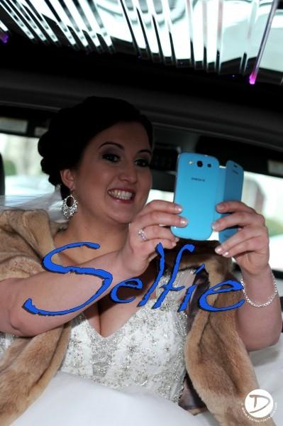 selfie in limo