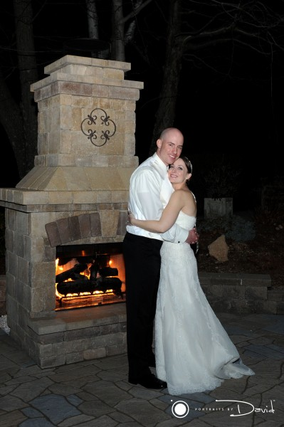 log cabin delaney house wedding photo